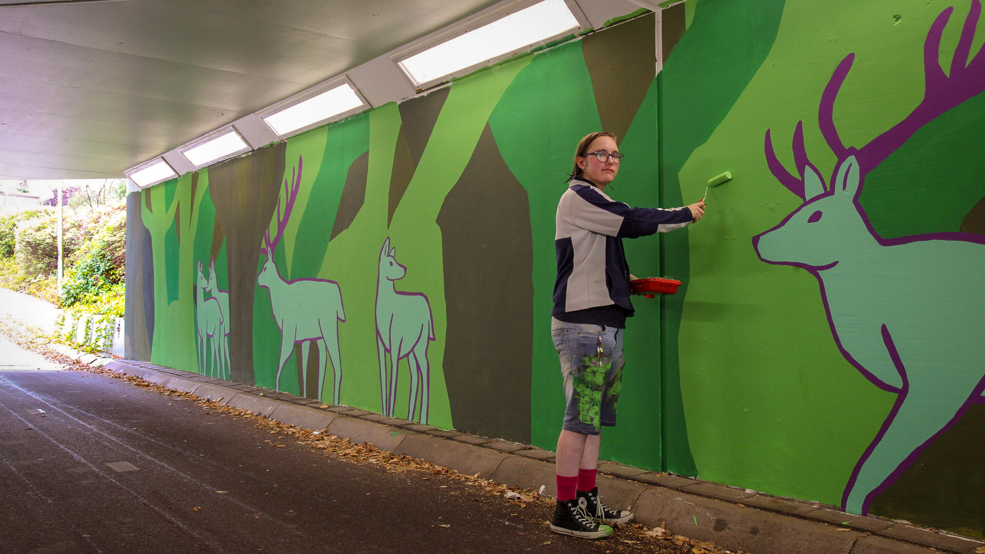graffitikunst fietstunnel putten